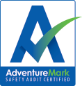 AdventureMark blue certification. Adventure safety audit standard