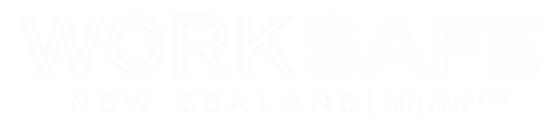 Worksafe NZ logo white - adventure safety